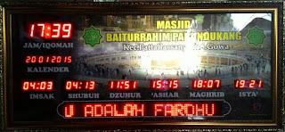 Jadwal Sholat Digital Masjid Makassar