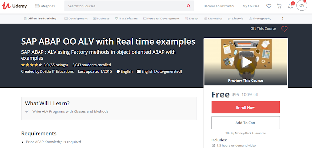 SAP ABAP OO ALV with Real time examples