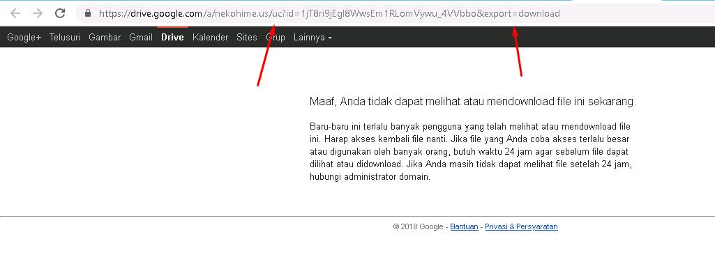 Cara Download GoogleDrive Yang Tekena Limit 24Jam