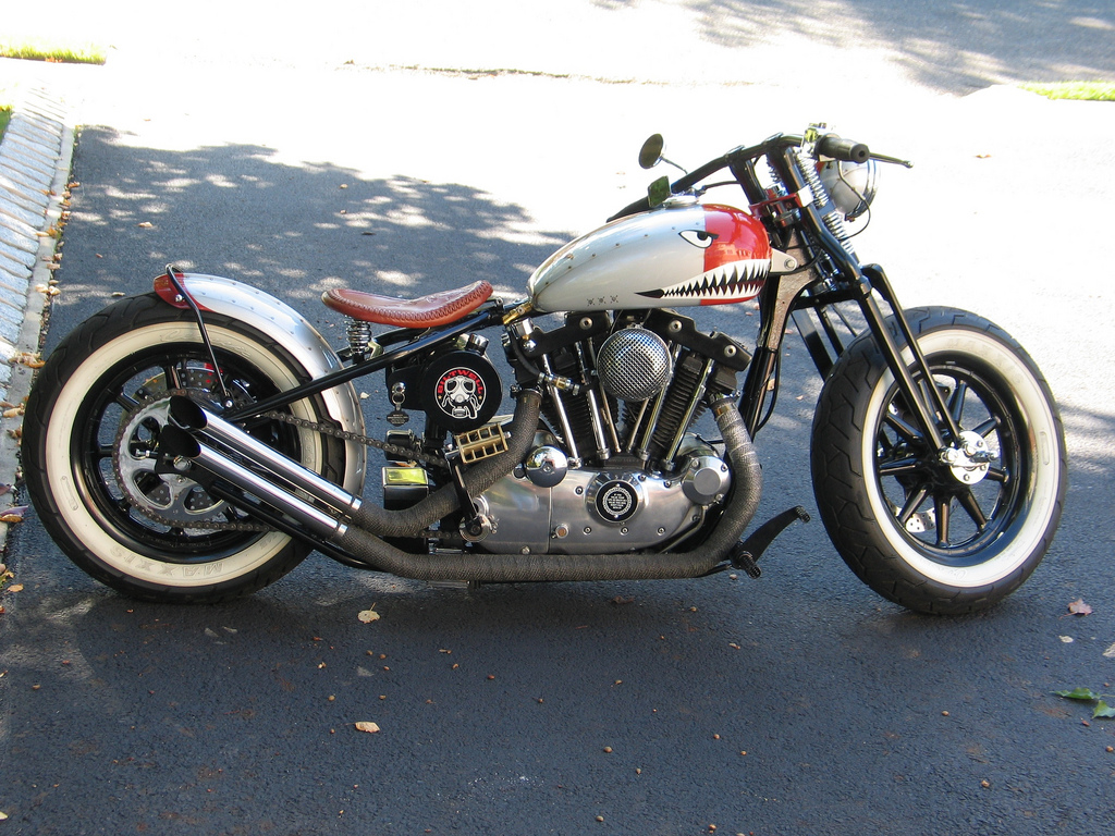 Bomber Bobber Style Motorcycles