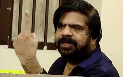 Tamil Nadu Election 2016 – T.Rajendar Votes And Lectures