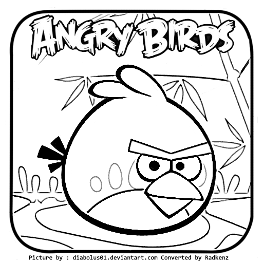 angry birds coloring pages red bird - radkenz artworks gallery angry birds seasons coloring page