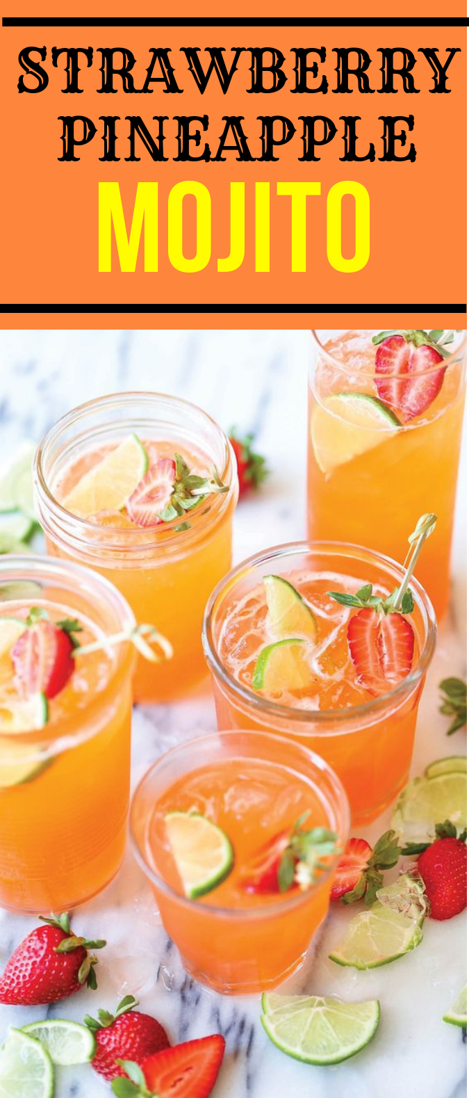 STRAWBERRY PINEAPPLE MOJITO #Drink #SummerDrink