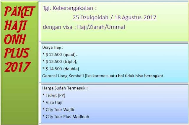 paket haji onh plus 2017