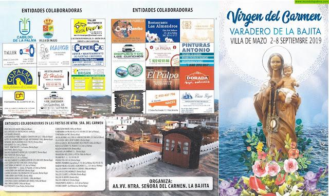 Festividad Ntra Sra del Carmen en el Varadero de La Bajita 2019 - Programa de Actos