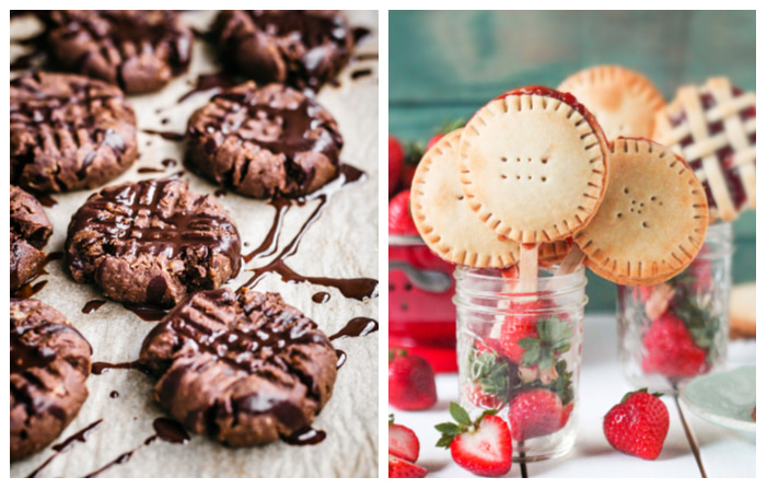 Photo of Flourless Chocolate Peanut Butter Brownie Cookies and Vegan Pie Pops