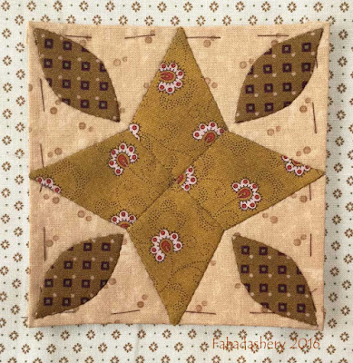 Dear Jane Quilt - Block B8 Water Lily