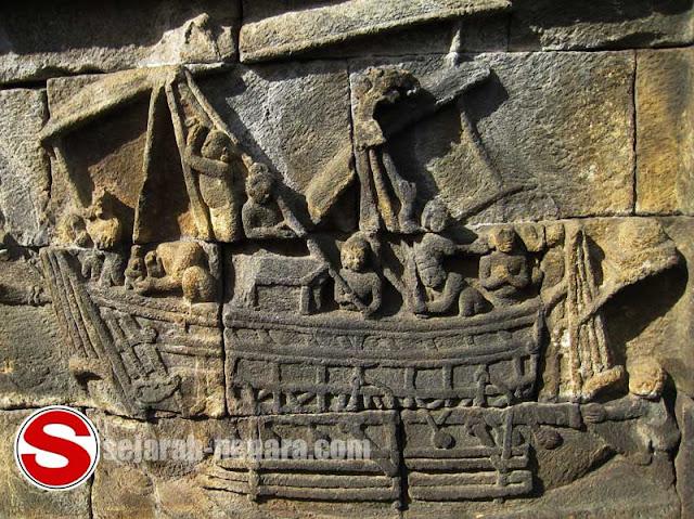 Gambar Relief nenek moyang bangsa Indonesia pelaut tangguh