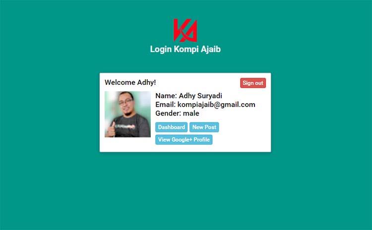 Membuat Google Sign-in Untuk Blog AMP