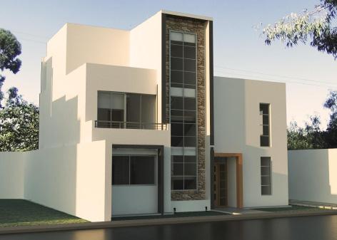 Dise os de casas minimalistas modernas licencias de for Diseno de fachadas minimalistas