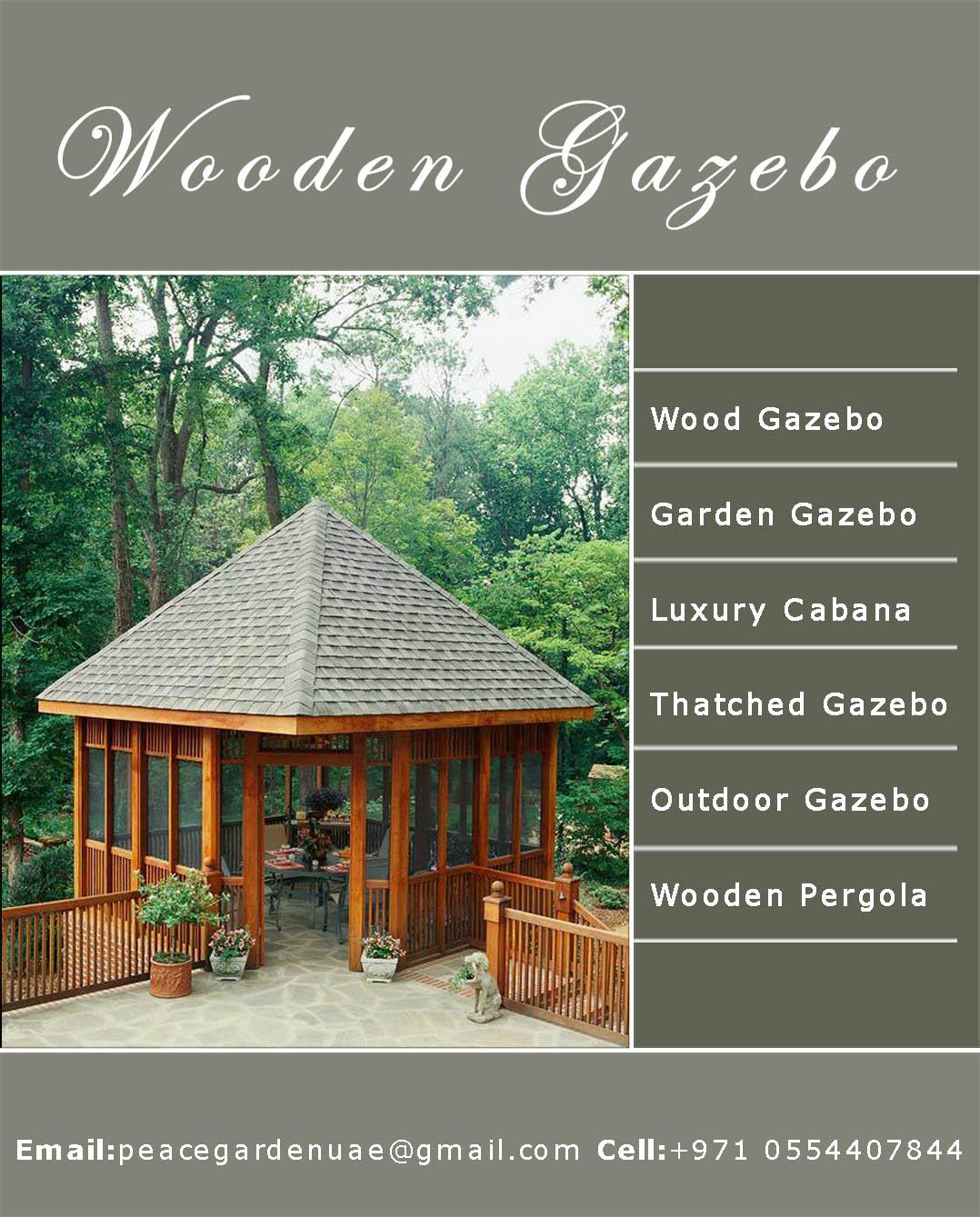 Wooden Gazebo Garden Gazebo In Uae Cabanas Gazebo Uae