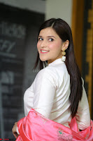 Mannara Chopra in Silky White Salwar Suit with Pink Chunni Latest Exclusive Pics March 2017 ~  024.JPG