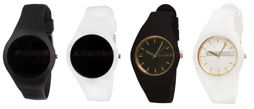 zegarki l czarny zegarek l jelly watch l minimalizm