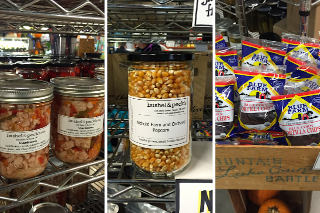Jarred veggies, popcorn, locally produced tortilla chips and more at Bush and  Peck's