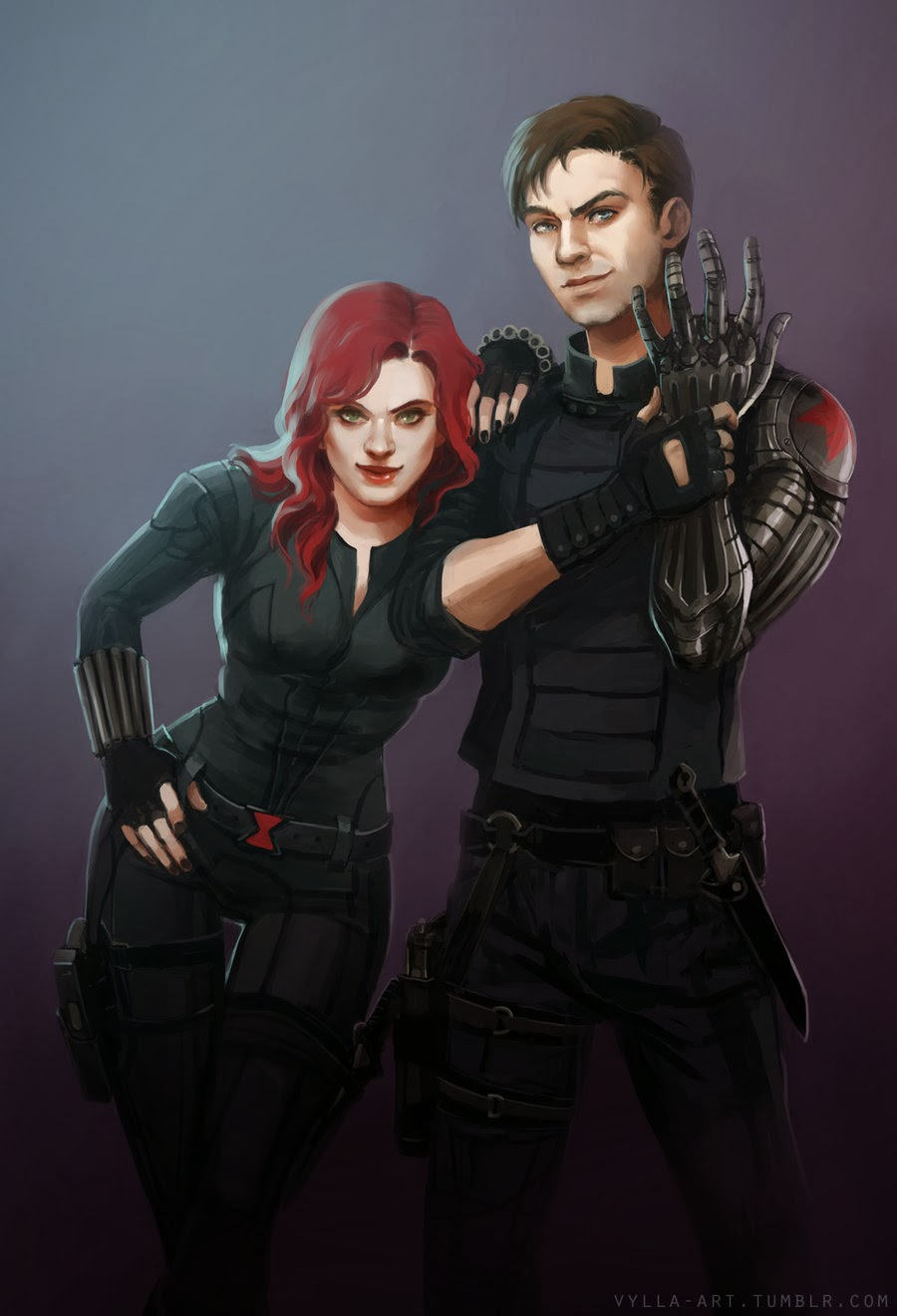 Fashion And Action Winter Soldier Character Fan Art By