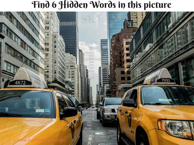 Picture Puzzle to find hidden words