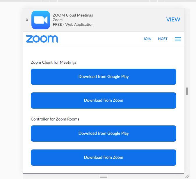 Mendownload Zoom Meeting Dengan Smartphone