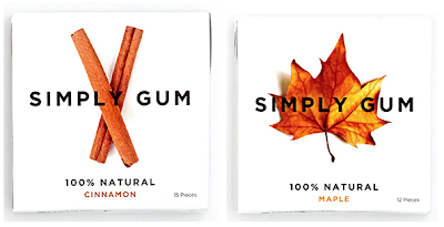 chewing gum - cinnamon and maple