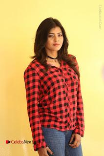 Actress Hebah Patel Stills in Blue Denim Jeans at Nanna Nenu Naa Boyfriends Movie Success Meet  0074.JPG