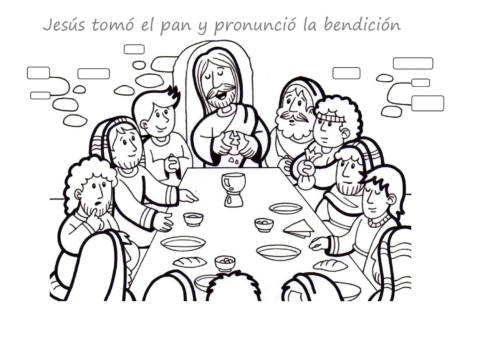 La Catequesis El Blog De Sandra Colorea Jueves Santo La