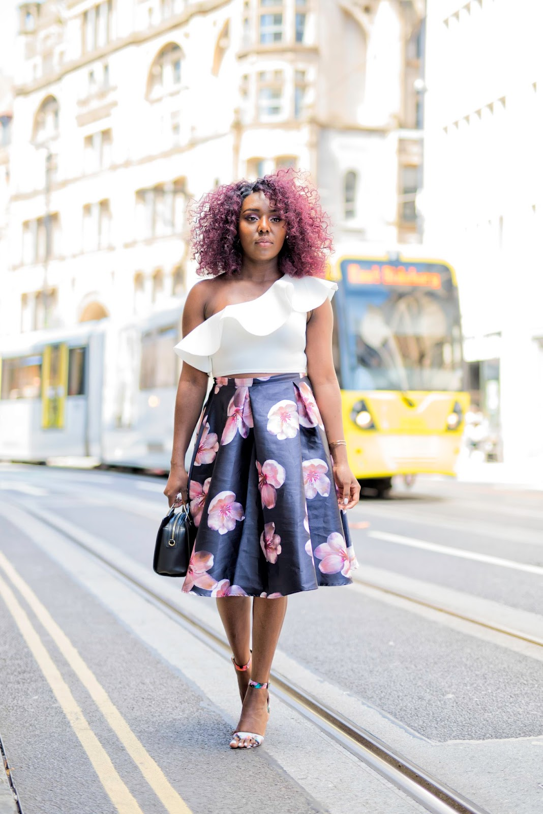 FLORAL MIDI SKIRT- MANCHESTER FASHION BLOGGER