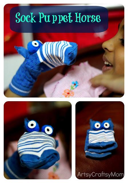 Horse sock puppet DIY
