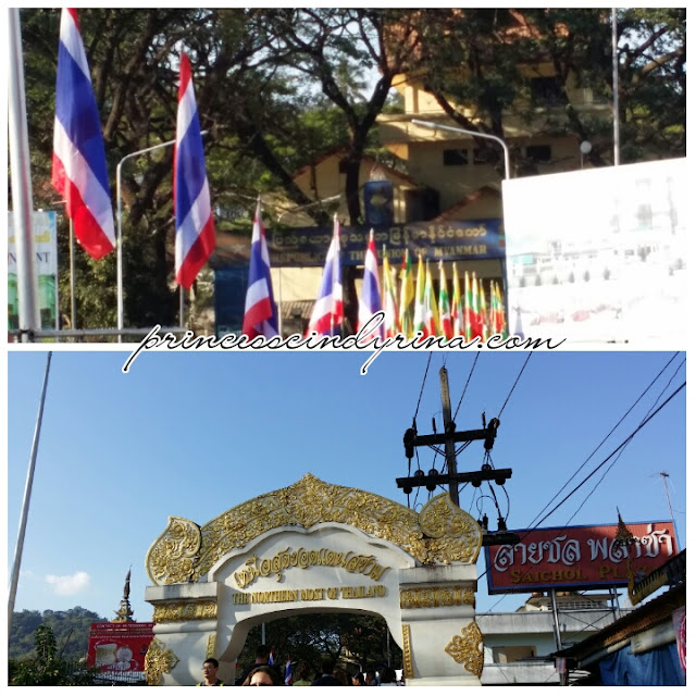 Thailand flag and gate