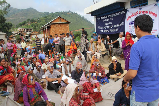 cataract surgery patients in eyecamp of nepal