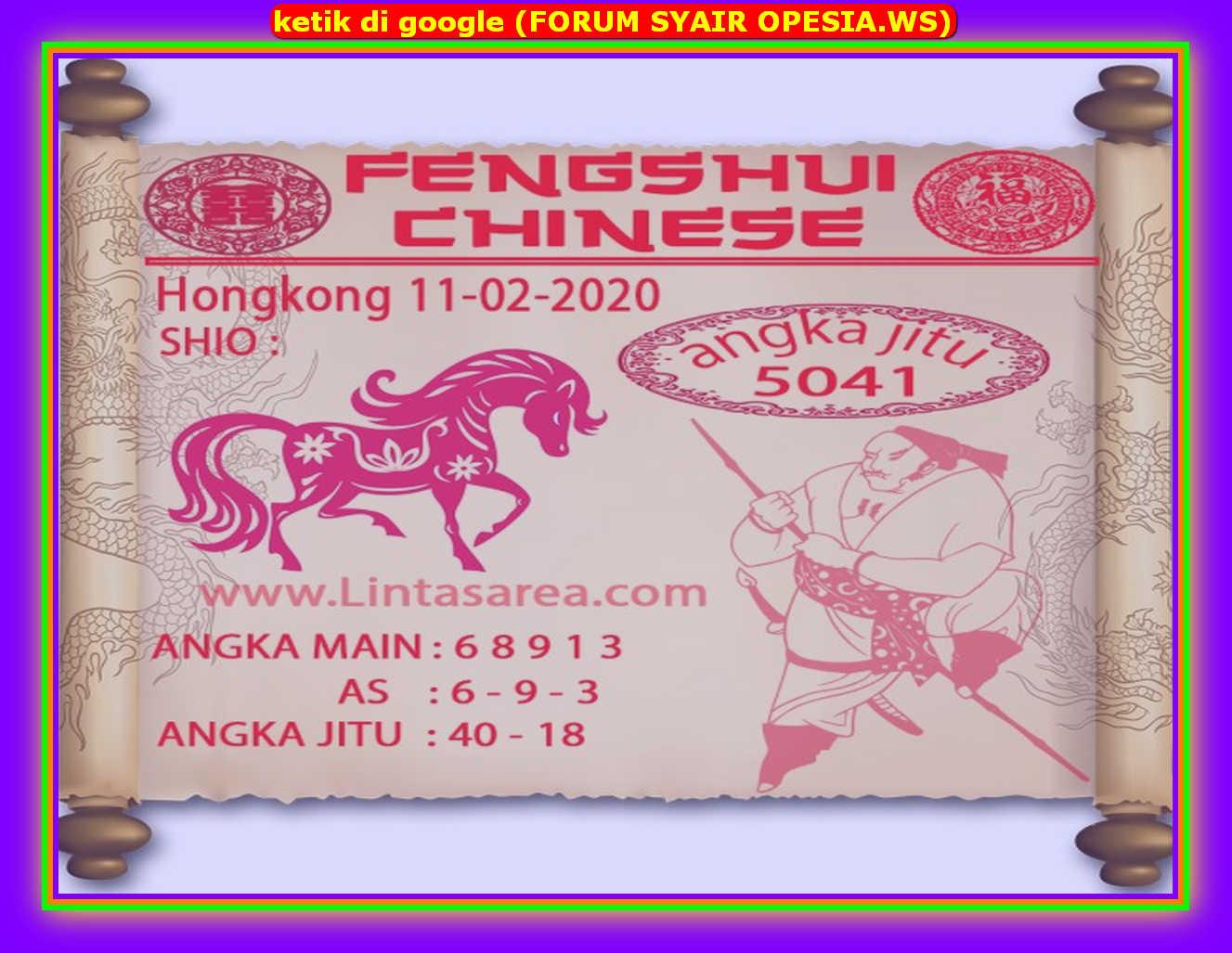 Kode syair Hongkong Selasa 11 Februari 2020 89