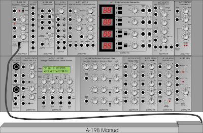 Equipamiento básico de módulos para recrear un Trautonium monofónico en el sistema Doepfer A-100
