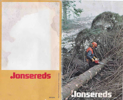 CATALOGO JONSEREDS AÑOS 70/80 - JONSEREDS CHAINSAW BROCHURE 70/80s