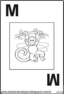 Baralho alfabético letra M