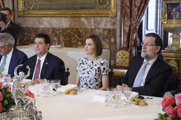 Queen Letizia And King Felipe Hosted Lunch For President Of Paraguay