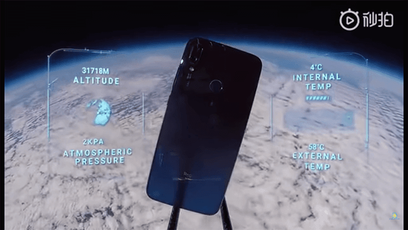 Redmi Note 7 survives drop from space with pictures of Planet Earth