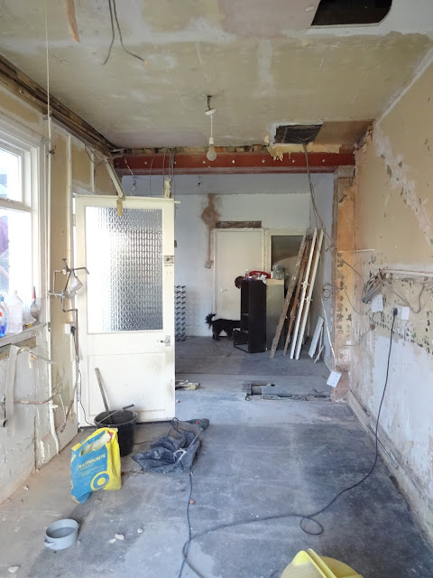 kitchen renovation progress