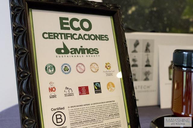 ECO certificaciones Davines