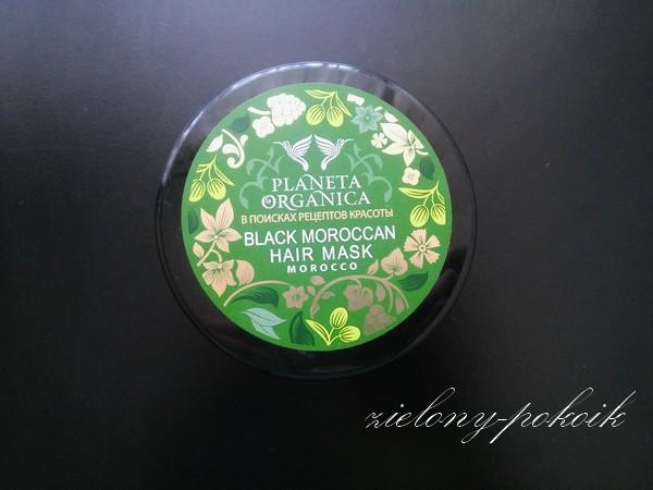 Planeta Organica - Czarna marokańska maska przeciw wypadaniu włosów z olejem