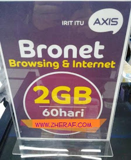Perdana Internet Axis 2GB - AXIS Bronet 2GB 24Jam