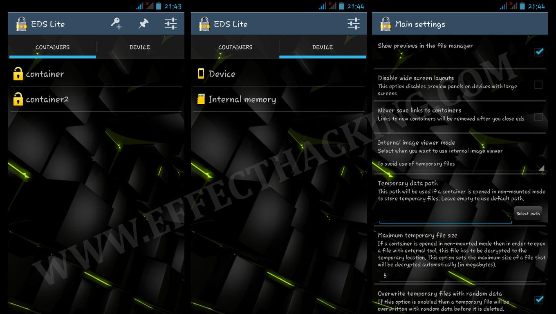 EDS Lite Screenshots