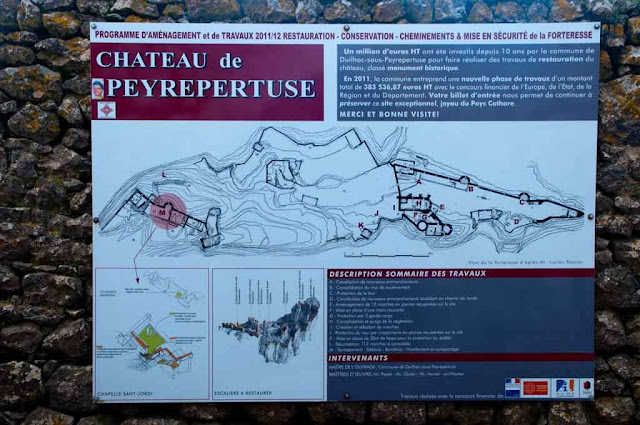 Mapa del castillo de Peyrepertuse