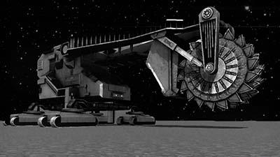 Una maquina parece estar sobre el asteroide Eros