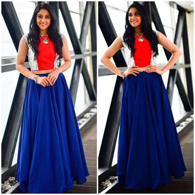 Regina cassandra dress for Jyo achyutananda promotions
