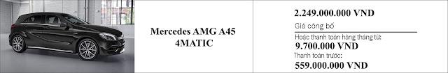 Giá xe Mercedes AMG A45 4MATIC 2019 hấp dẫn khó cưỡng