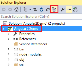 show all files visual studio 2015
