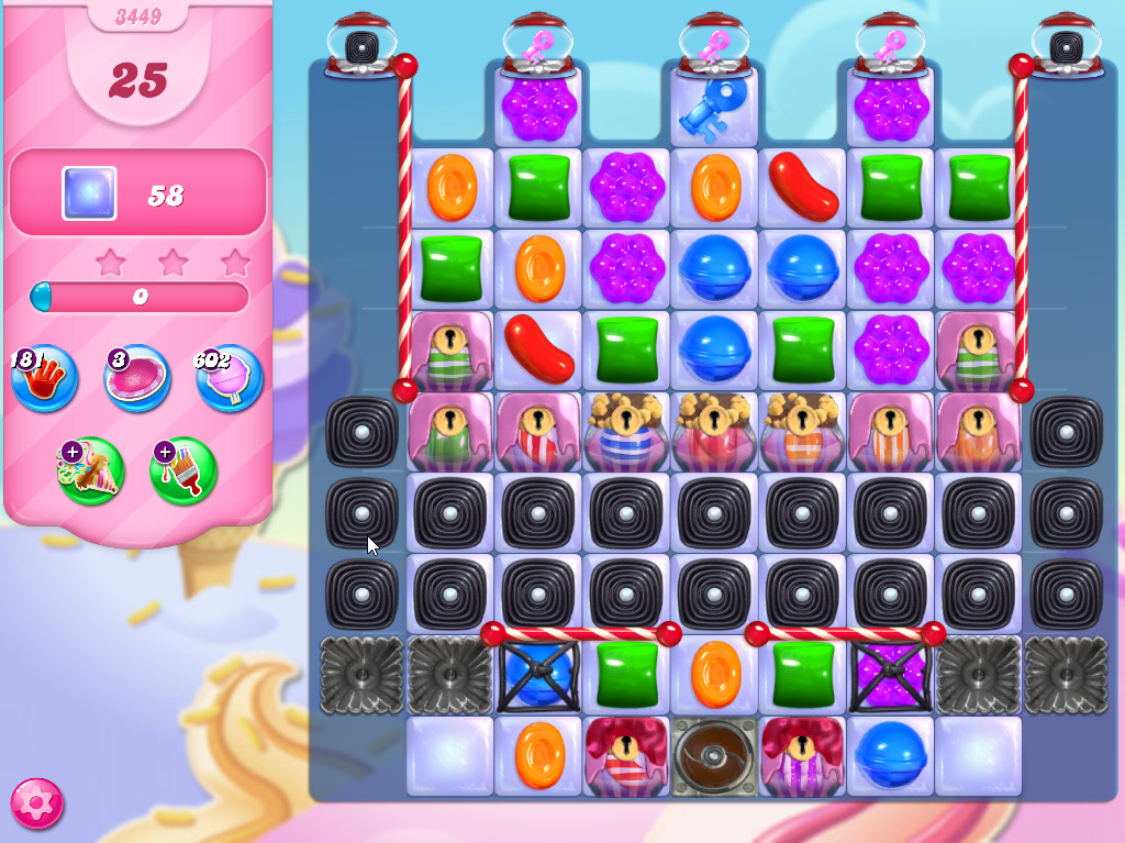 Candy Crush Saga level 3449