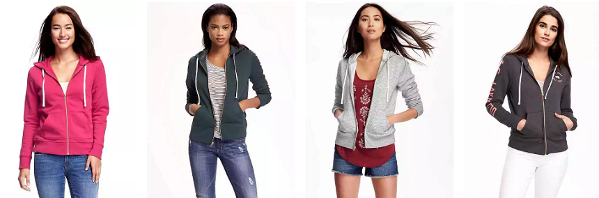Old Navy Relaxed Full Zip Fleece Hoodie $14 (reg $30)
