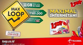 simpati loop, paket internet max loop, Simpati, Telkomsel, Paket Max Loop Kuota 11GB