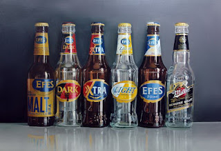 cuadros-latas-botellas-de-bebidas-pintura-hiperrealista bodegones-botellas-bebidas