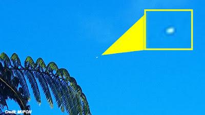 Cylindrical Shaped UFO Photographed Over Eungella, Australia 3-14-17