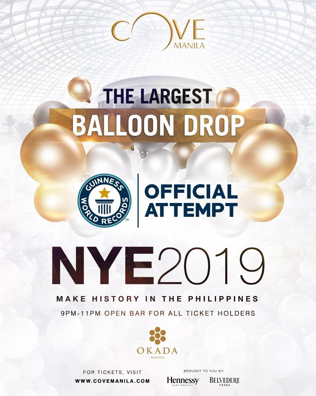 """130,000 balloons"" Cove Manila's largest balloon drop"